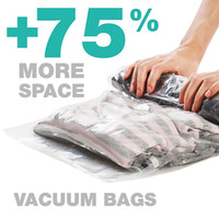 Wholesale vacuum compression space bag for sale - Group buy 1 pc Hand Rolling Compression Vacuum Bag Border Foldable Compressed Home Clothes Plastic Storage Bag Space Saving Seal Bags