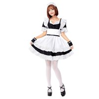 Wholesale maid accessories resale online - Zhomecos Roromiya Karuta Lolita Maid Dress Costumes Cosplay Suit for Girls Woman Waitress Maid Party Stage Costumes