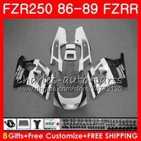 yamaha fzr al por mayor-Cuerpo para YAMAHA FZRR FZR 250R FZR250R 86 87 88 89 123HM.102 FZR250 86 FZR-250 Gris blanco caliente FZR 250 FZR250RR 1986 1987 1988 1989 Carenados