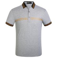 Wholesale man polo t online - Luxury Mens Designer Polo T shirts Summer Short Sleeved Turn Down Collar Short Sleeved Tops Polo Shirts