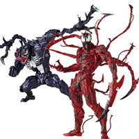 kırmızı bebek toptan satış-2019 kahraman bebekler Revoltech İnanılmaz Kırmızı Venom Karanfil Kaptan Amerika Spiderman Magneto Wolverine X-men Aksiyon Figürleri Oyuncak Bebek