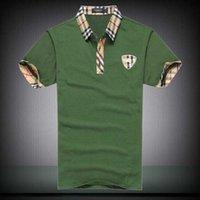spandex camiseta de los hombres al por mayor-Moda de verano Polo hombre diseñador etiqueta Tee bordado Tiger Head manga corta camiseta delgada para hombres camiseta de la juventud