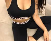 leggings apertados e quentes venda por atacado-2019 venda quente gc Menina treino Conjuntos de roupa interior de Algodão Yoga Terno calças de Fitness Ginásio Top Colete Calças mulheres Execução Cueca S-L