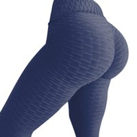 31a0f356f27 Women High Waist Ruched Textured Legging Butt Lift Yoga Pants Skinny  Workout Stretch Fitness Slim Colorful Full Length Yoga Pant