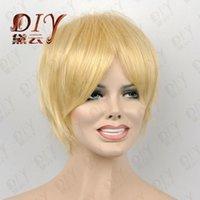 ingrosso bionde sexy calde-WBY MISS 002046 Sexy bionda breve nuova parrucca piena parrucche diritte parrucche diritte per capelli sintetici