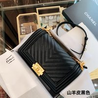 Wholesale first diamonds resale online - The fashin new style The imported first layer genuine leather handbags with diamonds beads top high quality women chains shoulder bag