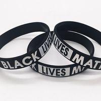 Wholesale rubber bangle bracelets resale online - Black Lives Matter Bracelet Silicone Rubber Wristband Wrist Band Sport Bangle For Men Women gift LJJK2184