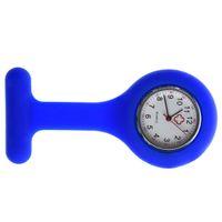 gummi krankenschwester uhren großhandel-FULL-Nurses Brosche Tunika-Uhr aus Silikonkautschuk Blau