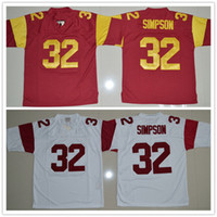 Wholesale college football jersey youth for sale - Group buy custom made USC Trojans Jerseys man youth O J Simpson College Football Jerseys S XL