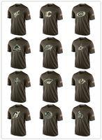 nhl jersey barato al por mayor-Moda NHL Saludo al servicio Colección Camisetas Camisetas de hockey baratas Camisetas Logos Big Tall Banner Good Quanlity Camuflaje