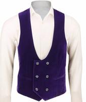 ingrosso tuxedo personalizzato unico-Ultime Velluto Personalizzato Make Man's Groom Wedding Groom Wear Tuxedo formale Ultimo design Gilet Moda unica Uomo Solo per uomo