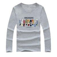 étoiles de patinage achat en gros de-Coton Hommes T-shirts À Manches Longues PrintedMale Tops Tees Skate Marque Hip Hop Sport Vêtements Basket-ball sport star t-shirt pour hommes femmes shirt