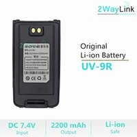 ingrosso walkie 8w-UV-9R originale Batteria 2200 mAh Baofeng impermeabile Walkie Talkie UV-9R Baofeng 8W Ham Radio UV 9R Batteria