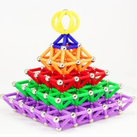 Wholesale children construction toys for sale - Group buy Magnet Bars Metal Balls Magnetic Blocks Model Building Construction Set Magnetic Designer Educational Toys for Children Gift Y200111