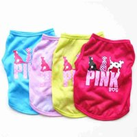 Wholesale dog hat large for sale - Group buy Pink Letter Dog Vest Clothes Summer Pet Puppy Breathable cool polyester Waistcoats Dogs T Shirt New Fashion