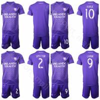 orlando city achat en gros de-SC Orlando City 19-20 MLS Soccer 17 Maillot Nani Ensemble 14 Dom Dwyer 13 Tesho Akindele 9 Chris Mueller Maillot de Football Kits Uniformes