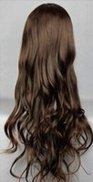Wholesale hair brown korean resale online - WIG Korean Women Long Curly Wavy Fashion BROWN Hair Lolita Costume Cosplay Wig