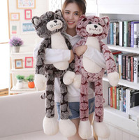 Wholesale brown bear pillow resale online - Plush Kitty Fluffy Cuddly Giant Huge Cat Stuffed Animals Toys Pillows Cushion Birthday Gifts for Girls Boys Kids Girlfriend cm cm