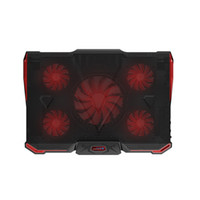 Wholesale laptop fan cooler led resale online - laptop cooler cooling pad with Silence LED Fans USB Adjustable Notebook Holder for macbook air pro new