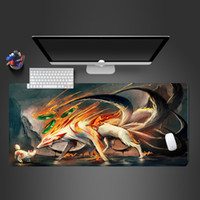 Wholesale cool mouse pads resale online - Hot Selling Extra Large Mouse Pad Cool Naruto Anime Gaming Mousepad Anti slip Natural Rubber Gaming Mouse Mat With Locking Edge