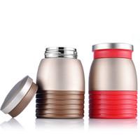 doppelwandige tassen großhandel-280ml Wasserflaschen Cups Double Wall Kids Isolation Cup Flasche Edelstahl Tumbler mit Deckel Kaffeetasse MMA2321-1