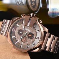 auto relógio do exército venda por atacado-Super Qualidade DZ Luxo Mens Watch militar do exército Casual Auto Data Quartz Chronograph Movimento waterproof o relógio de pulso DZ4318