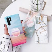 Wholesale simple silicone case online – custom Simple marble phone case for Huawei P20 Pro Lite soft shell glossy IMD bracket Nova I E protective cover Mate Pro Lite