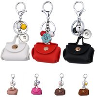 Wholesale fashion accessories for sale - Hot Sale Styles Mini Coin Purse Keyrings Noosa Alloy Button Pendant accessories Keychain For Women Handbag Keyfob Fashion gift M51Q