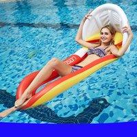 aufblasbare männer frauen großhandel-Mode Pool Party Aufblasbare Schwimmer Männer Und Frauen Netzhängematte Sommer Strand Schwimmen Aufblasbare Schwimmer PVC Rückenlehne Schwimm Reihe