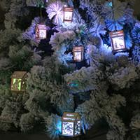 luzes conduzidas indoor da árvore venda por atacado-LED Light Wood Christmas Tree Hanging Ornaments Housing Houses Decoração para casa Luminescence Party Indoor