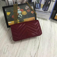 gesteppte handtaschen großhandel-Frauen-Entwerfer-Schulter-Beutel-Liebes-Herz-Beutel-Miniketten-Klappen-Crossbody-Handtaschen-Qualitäts-echtes Leder gesteppte Handtasche Freeshipping 18cm