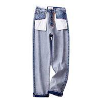 jeans projeta pernas venda por atacado-Moda 2019 Novo Design Mulheres Perna Larga Calça Jeans Casual Bolsos Fora Jeans Longos Denim Streetwear Mulheres