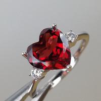 Wholesale red garnet gemstone resale online - MeiBaPJ Fine Quality Natural Red Garnet Gemstone Trendy Ring for Women Real Sterling Silver Charm Fine Jewelry