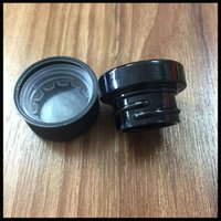 Wholesale 5ml Black Glass Jar Non Stick Dab Container With Child Resistance Lid For Dry Herb Concentrate Thick oil Wax DHL Free