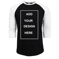 Wholesale customizing t shirts for sale - Group buy Customized T Shirt Men Design O Neck T shirt Men s Casual Cotton Sleeve Tshirt Hot Sale Raglan Jersey Shirt Man