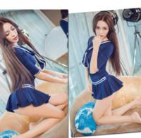 up uniformen großhandel-2019 Beliebte Stil Bow Studenten verkleiden sich sexuelle verführerische Matrosenuniform verführerische Spieluniform Dessous x