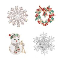 neue rucksackformen großhandel-Weihnachtsthema Form Pin neue Legierung Variety Fashion Trend Rucksack Hut Neutral Snowman Schneeflocke Weihnachtsbrosche Schmuck Geschenk