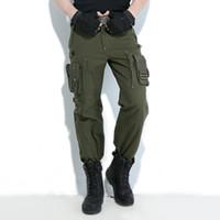 ingrosso escursionismo jersey-Pantaloni cargo Freedom Knight Outdoors Multi Pocket Jersey Uomo verde militare militare Escursionismo campeggio pantaloni lunghi