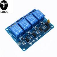 arduino için 5v röle modülü toptan satış-Arduino ARM PIC, AVR DSP Elektronik 5V 4 Kanal Relay.4 yol 5V Röle Modülü longteng için 5V 4-Kanal Röle Modülü Kalkanı