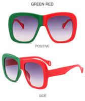 leopard eyewear großhandel-Leopard Übergroßen Sonnenbrillen 2019 Neue Mode Frauen Markendesigner Retro Rahmen Sonnenbrille Vintage Shades Square Eyewear