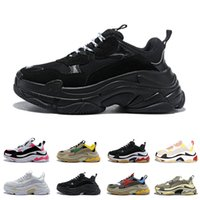 Wholesale black pu men s boots resale online - balenciaga Triple s designer Paris FW Triple s Sneakers for men women black red white Casual Dad Shoes tennis increasing sneakers
