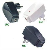 cargador de pared usb au 1a al por mayor-Travel Wall USB AC WALL CHARGER para IPOD, IPHONE, ZUNE, ZEN, SANSA, SONY 5V 1A EU US AU Envío gratis