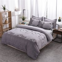 Wholesale home textiles resale online - Nordic Simple Floral Bedclothes Digital Printing Duvet Cover Set Home Textile Soft Comfortable Adults Bedding Set EU Single