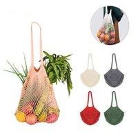 rollende einkaufstaschen großhandel-Wiederverwendbare String Einkaufstaschen Obst Gemüse-Einkaufstüte Ineinander greifen-Netz Woven Umhängetasche Turtle Bag Totes Home Storage Taschen CCA11894 60pcs