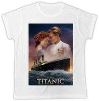ropa titánica al por mayor-Titanic Leonardo Dicaprio cartel Ideal cumpleaños del regalo de camiseta fresca ropa de gran tamaño Camiseta