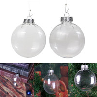 Wholesale party gadgets for sale - Group buy Clear Plastic Flat Ball Christmas Decor Pendant Ornaments DIY Christmas Party Decorations Xmas Tree Ornaments Kids Gifts Gadgets