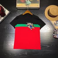 ropa de fiesta de las mujeres europeas al por mayor-Moda para mujer Tops Tees Runway Famosa marca Diseño europeo Estilo de fiesta Camisetas Ropa de mujer
