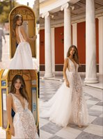 Wholesale attach dress resale online - 2019 Summer Mermaid Wedding Dresses Sexy Backless Beach Bridal Gowns Attached Train Dresses For Bohemian Wedding Gowns Custom Made