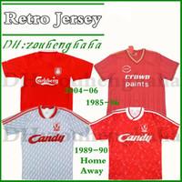 ingrosso gerrard calcio-2004 06 Gerrard # 8 maglia da calcio retrò Baros Luis Garcia Smicer Alonso Carragher 1985-86 Rush Kenny Dalglish ritorno 1988 89 maglia da calcio