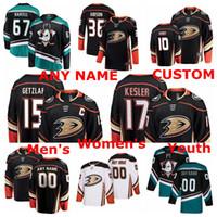 Wholesale ryan kesler jerseys resale online - Anaheim Ducks Jerseys Rickard Rakell Jersey Corey Perry Ryan Kesler John Gibson Ryan Getzlaf Black White Ice Hockey Jerseys Custom Stitched